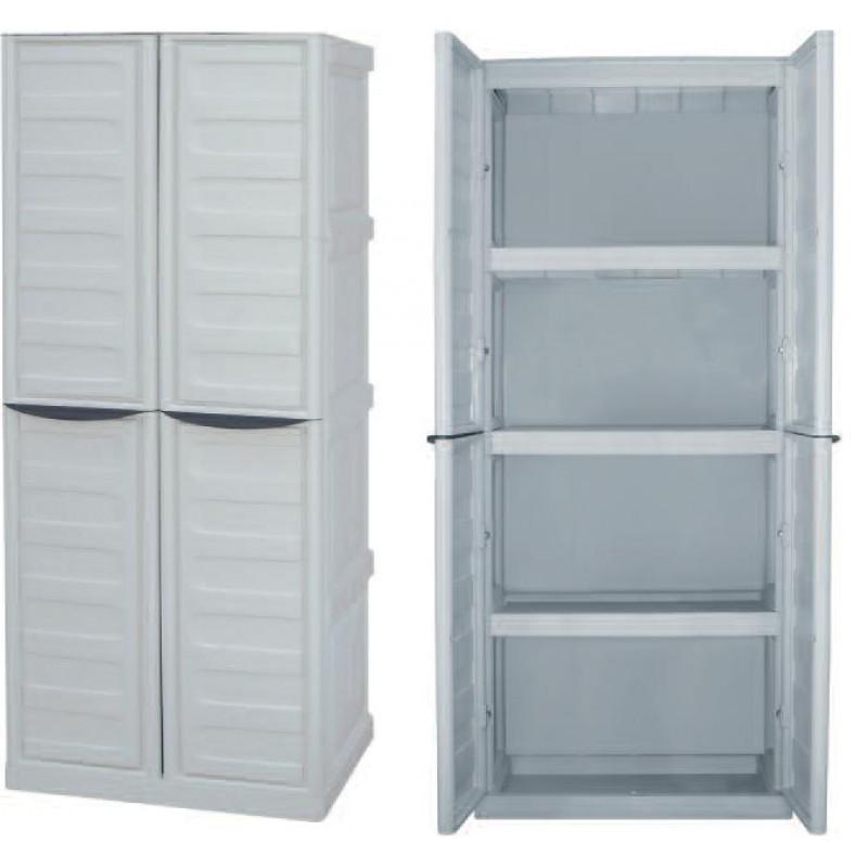 Πλαστική ντουλάπα με ράφια Spazio S70/TP