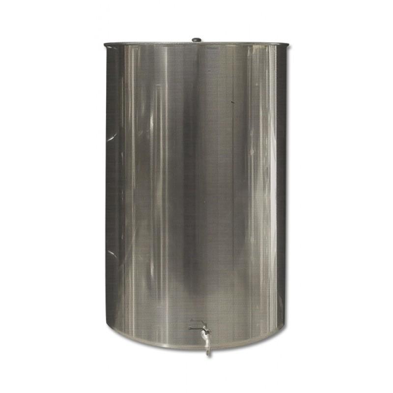 Ανοξείδωτη δεξαμενή (Inox) με καπάκι κατσαρόλας 250lt (GR250AE)