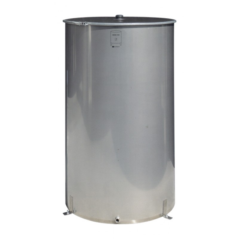 Ανοξείδωτη δεξαμενή (Inox) νερού με καπάκι κατσαρόλας 1000lt