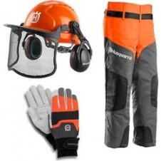 Kιτ Προστατευτικού Εξοπλισμού - Περισκελίδα CLASSIC - Κράνος CLASSIC - Γάντια FUNCTIONAL HUSQVARNA