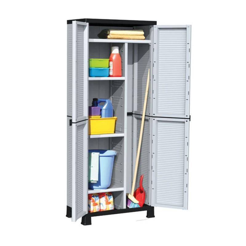 Πλαστική ντουλάπα με χώρισμα και 4 ράφια BPC7000 (023517)