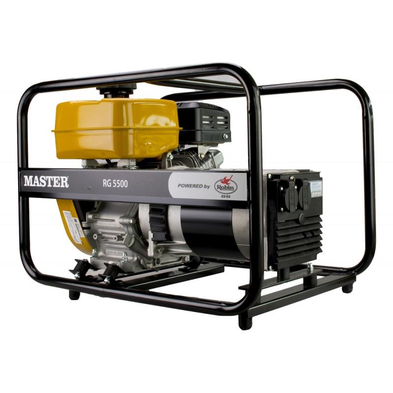 Μονοφασική γεννήτρια βενζίνης 5.5kVA MASTER/ROBIN (RG5500)