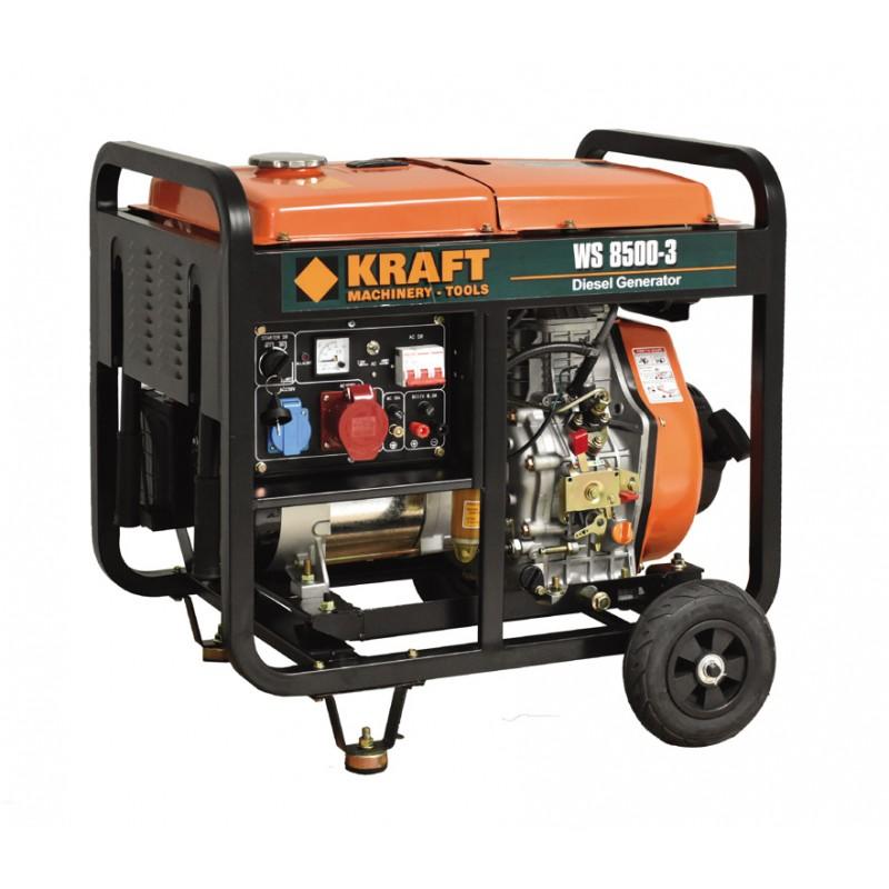 Ηλεκτρογεννήτρια πετρελαίου 6000W KRAFT WS8500-3 (63774)