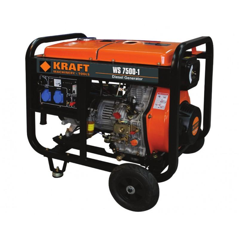 Ηλεκτρογεννήτρια πετρελαίου 5000W KRAFT WS7500-1 (63775)