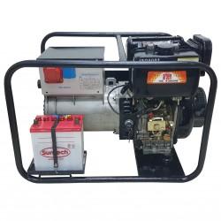 Τριφασική Γεννήτρια Πετρελαίου 6,5Kva με Ενσωματωμενη Ηλεκτροκολληση Argen